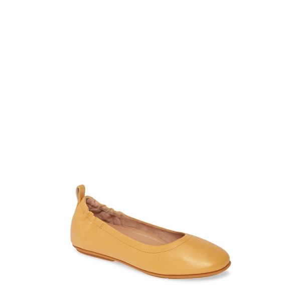 フィットフロップ レディース サンダル シューズ Allegro Ballet Flat Warm Gold Leather