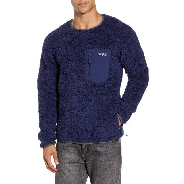 パタゴニア メンズ シャツ トップス Los Gatos Fleece Crewneck Sweatshirt New Navy