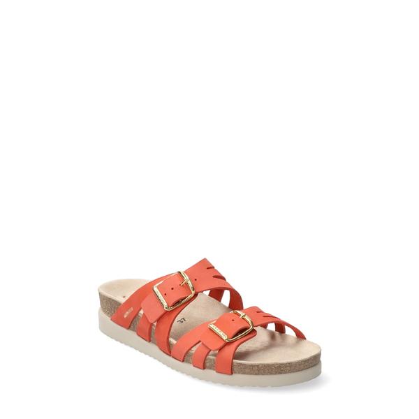 メフィスト レディース サンダル シューズ Helisa Slide Sandal Coral Nubuck Leather