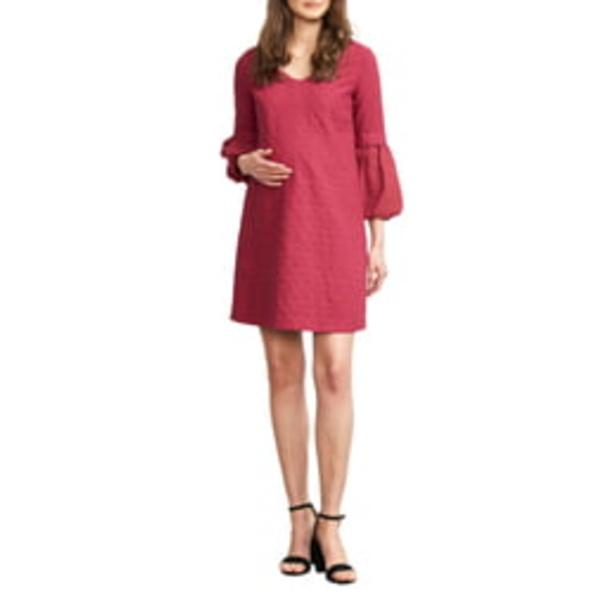 マターナルアメリカ レディース ワンピース トップス Bubble Sleeve Maternity Shift Dress Magenta