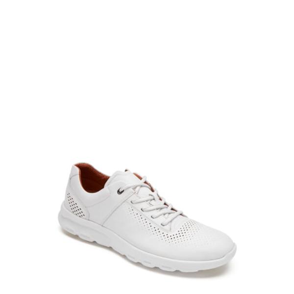 ロックポート メンズ スニーカー シューズ Let's Walk Sneaker White Leather