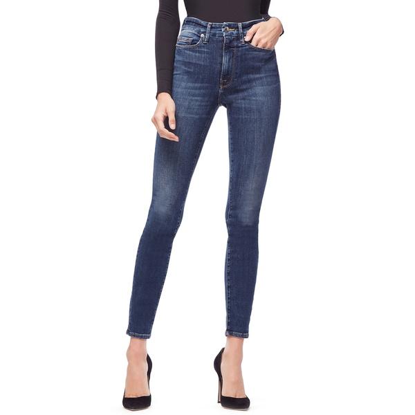 グッドアメリカン レディース デニムパンツ ボトムス Good Waist Ripped High Waist Skinny Jeans Blue 195