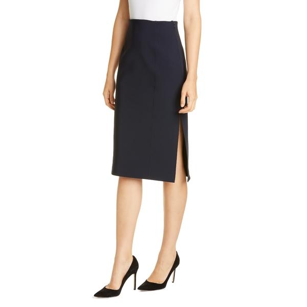 アダム リピズ レディース スカート ボトムス Side Slit Bonded Neoprene Pencil Skirt Black