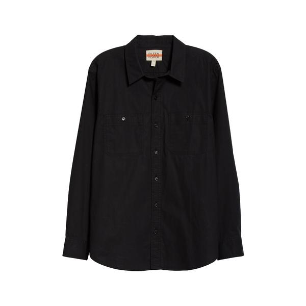 エイリーンフィッシャー レディース シャツ トップス Organic Cotton Poplin Button-Up Shirt Black