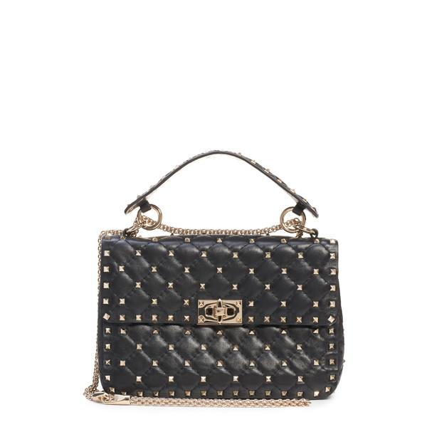 ヴァレンティノ ガラヴァーニ レディース ショルダーバッグ バッグ Medium Rockstud MatelassQuilted Leather Crossbody Bag Nero