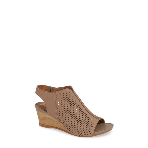 コンフォーティバ レディース サンダル シューズ Skylyn Wedge Sandal Grey Nubuck Leather