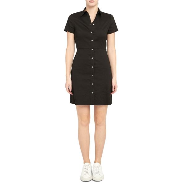 セオリー レディース ワンピース トップス Short Sleeve Shirtdress Black