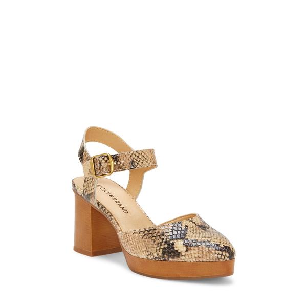 ラッキーブランド レディース サンダル シューズ Rheyme Platform Sandal Natural Multi Leather