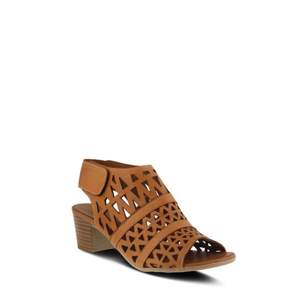 スプリングステップ レディース サンダル シューズ Dorotha Block Heel Sandal Brown Leather