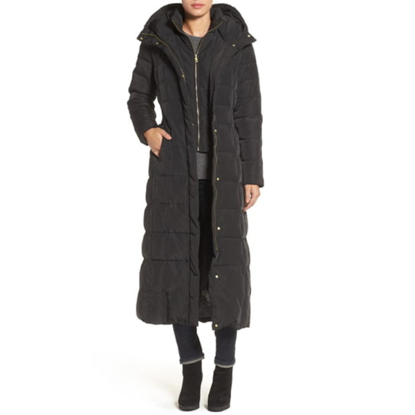 コールハーン レディース コート アウター Water Repellent Quilted Coat with Inner Bib Black