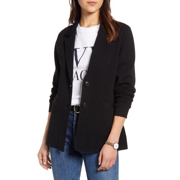 ワンナインオーワン レディース ジャケット&ブルゾン アウター Stretch Wool Blend Sweater Blazer Black
