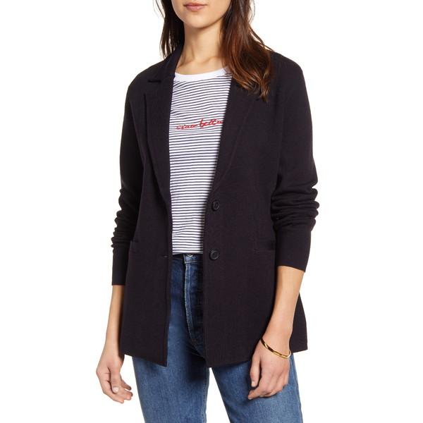 ワンナインオーワン レディース ジャケット&ブルゾン アウター Stretch Wool Blend Sweater Blazer Navy Peacoat