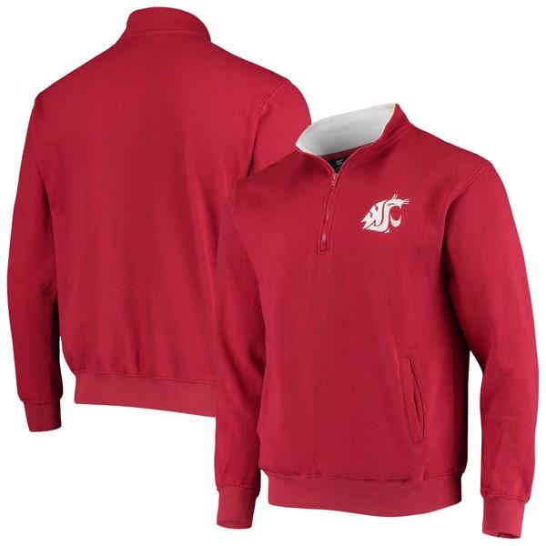 コロシアム メンズ ジャケット&ブルゾン アウター Washington State Cougars Colosseum Tortugas Logo Quarter Zip Jacket Charcoal