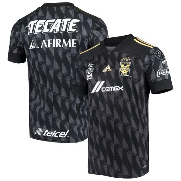 アディダス メンズ ユニフォーム トップス Tigres UANL adidas 2020/21 Third Replica Jersey Black