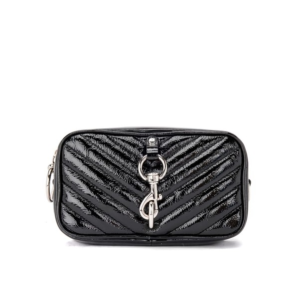 レベッカミンコフ レディース クラッチバッグ バッグ Rebecca Minkoff Carrier Camera Bag In Black Naplack NERO
