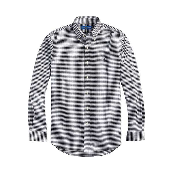 ラルフローレン メンズ シャツ トップス Classic-Fit Lightweight Twill Gingham Shirt Nero Blanc