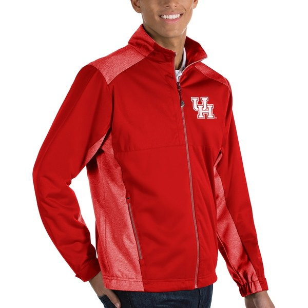 アンティグア メンズ ジャケット&ブルゾン アウター Houston Cougars Antigua Revolve Full-Zip Jacket Red