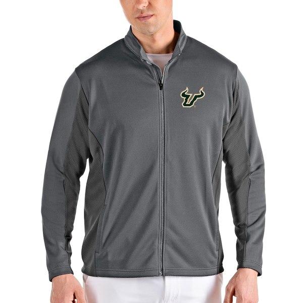 アンティグア メンズ ジャケット&ブルゾン アウター South Florida Bulls Antigua Passage Full-Zip Jacket Gray/Charcoal