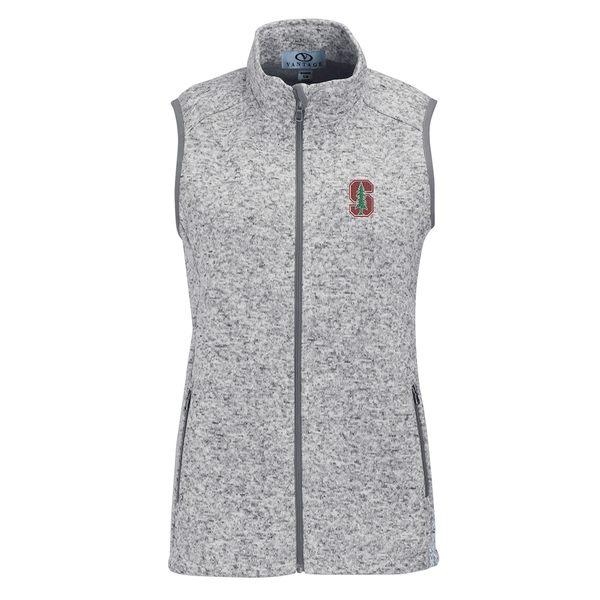 ビンテージアパレル レディース ジャケット&ブルゾン アウター Stanford Cardinal Women's Summit Fleece Full Zip Sweater Vest Heather Gray