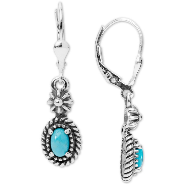 Silver アクセサリー Turquoise レディース Earrings Sterling (4 6mm) Drop ピアス&イヤリング Sterling Silver アメリカンウェスト x in