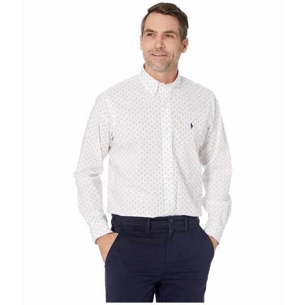 ラルフローレン メンズ シャツ トップス Classic Fit Poplin Shirt Mini Anchor Dot