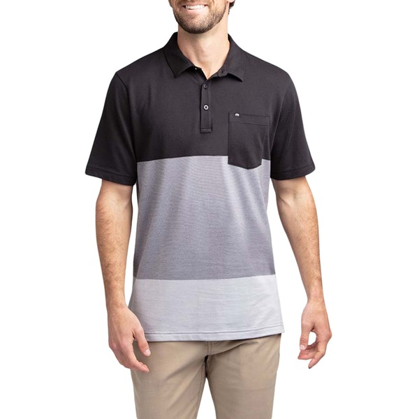 TravisMathew メンズ トップス シャツ Black 全商品無料サイズ交換 期間限定送料無料 Golf 与え Caddy トラビスマヒュー Men's Polo Daddy