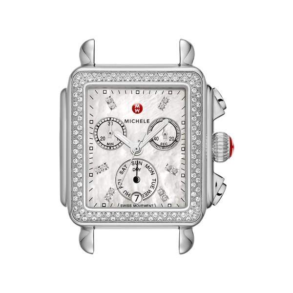 ミッシェル レディース 腕時計 アクセサリー MICHELE Deco Diamond Diamond Dial Watch Head & Bracelet, 33mm x 35mm Silver