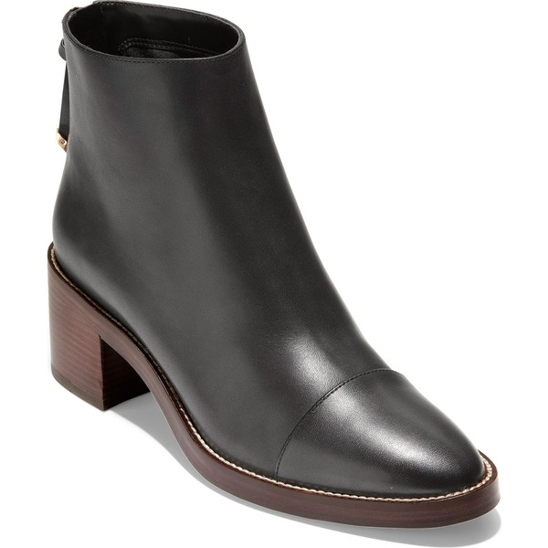 コールハーン レディース ブーツ&レインブーツ シューズ Cole Haan Winnie Grand Waterproof Bootie (Women) Black Waterproof Leather