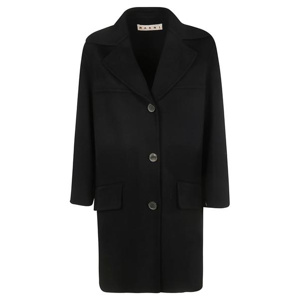 マルニ レディース ジャケット&ブルゾン アウター Marni Wide Lapel Coat Black