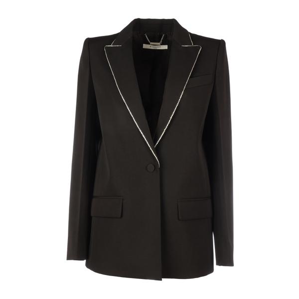 ジバンシー レディース ジャケット&ブルゾン アウター Givenchy Single-breasted Jacket With Crystal Details Black