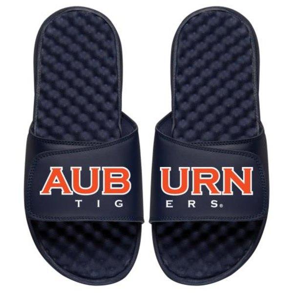 アイスライド メンズ サンダル シューズ Auburn Tigers ISlide Split Slide Sandals Navy