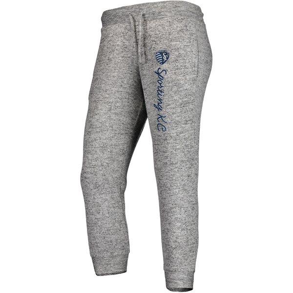 ファナティクス レディース カジュアルパンツ ボトムス Sporting Kansas City Fanatics Branded Women's Cozy Collection MLS Steadfast Crop Jogger Pant Heathered Gray