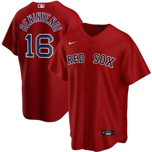 ナイキ メンズ ユニフォーム トップス Andrew Benintendi Boston Red Sox Nike Home 2020 Replica Player Jersey White