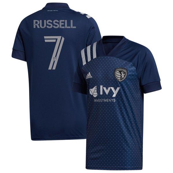 アディダス メンズ ユニフォーム トップス Johnny Russell Sporting Kansas City adidas 2020 Swiss Dots Replica Jersey Navy