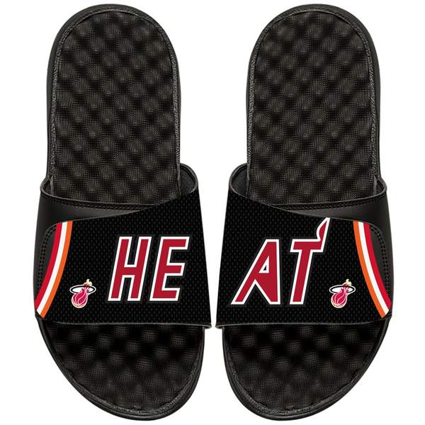 アイスライド メンズ サンダル シューズ Miami Heat ISlide NBA Hardwood Classics Jersey Slide Sandals Black