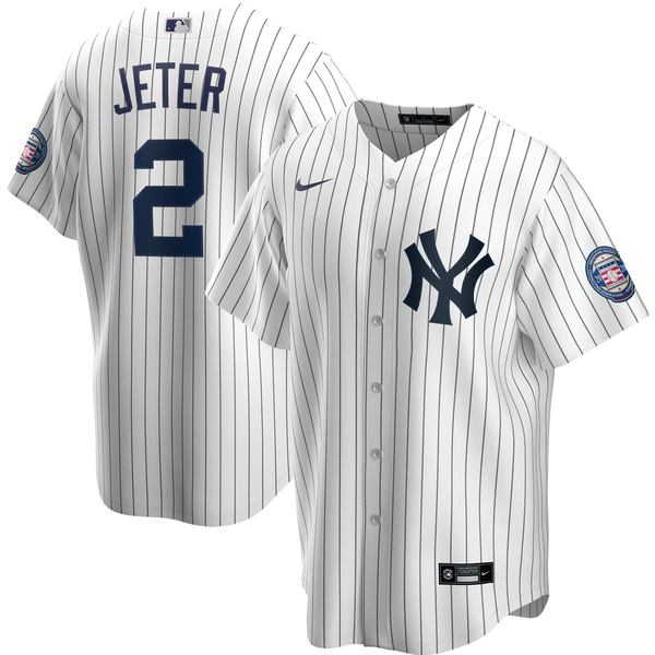 ナイキ メンズ ユニフォーム トップス Derek Jeter New York Yankees Nike 2020 Hall of Fame Induction Road Replica Player Name Jersey Gray
