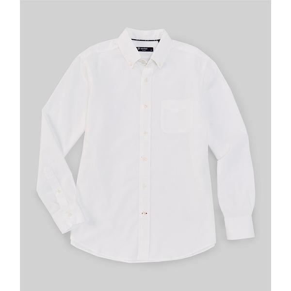 クレミュ メンズ シャツ トップス Solid Long-Sleeve Oxford Woven Shirt White