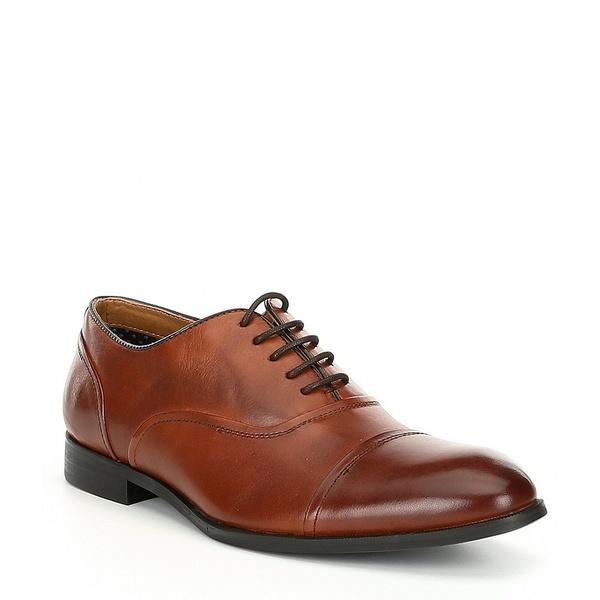 スティーブ マデン Oxford メンズ ドレスシューズ スティーブ シューズ Toe Men's Elwood Leather Cap Toe Oxford Cognac, KICHI-KICHE:8c8918dd --- wap.assoalhopelvico.com
