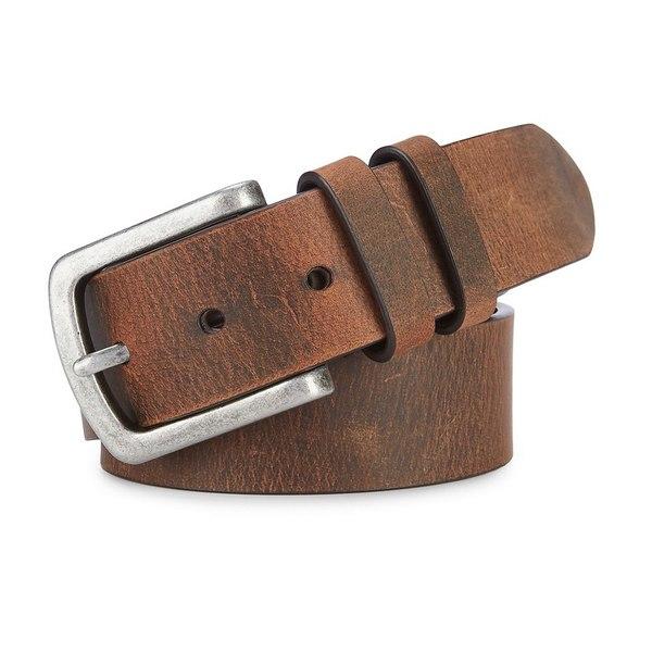 クレミュ メンズ ベルト アクセサリー Smooth Strap Belt Brown