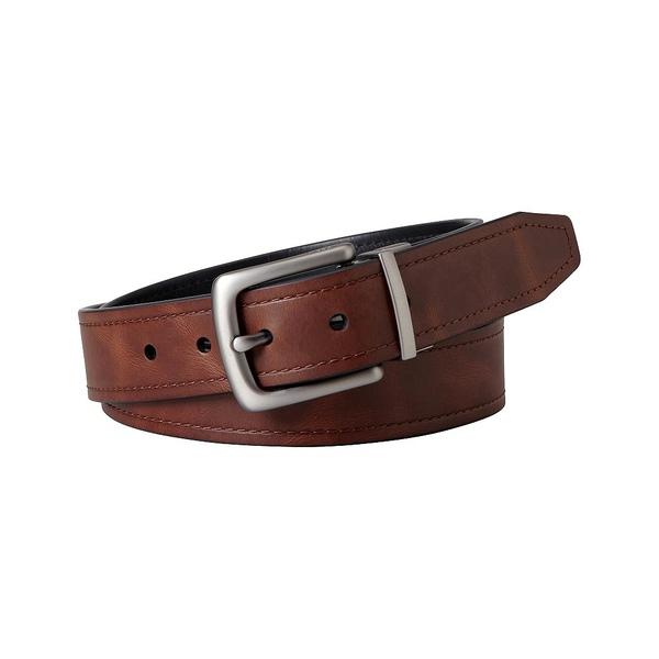 フォッシル メンズ ベルト アクセサリー Parker Reversible Leather Belt Brown