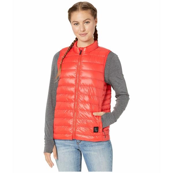ロル レディース コート アウター Maria Packable Vest Flame Red
