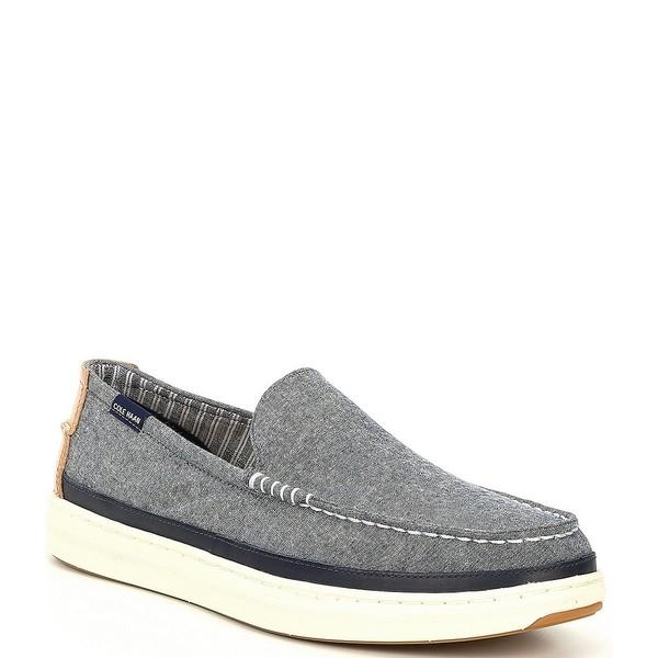 コールハーン メンズ スニーカー シューズ Men's Cloudfeel Weekender Slip On Sneakers Blue Chambray