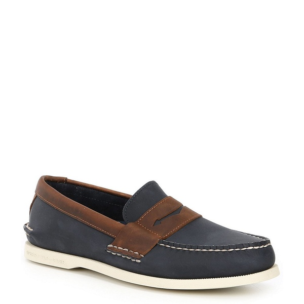 スペリー メンズ スニーカー シューズ Men's Authentic Original Wild Horse Leather Penny Loafers Navy/Sonora