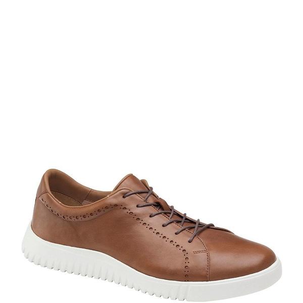 ジョンストンアンドマーフィー メンズ スニーカー シューズ Men's McFarland Leather Sneakers Dark Camel