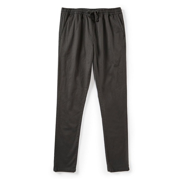 ルーカ メンズ カジュアルパンツ ボトムス A.T. Dayshift Elastic Wait Slim-Straight Fit Pants Pirate Black