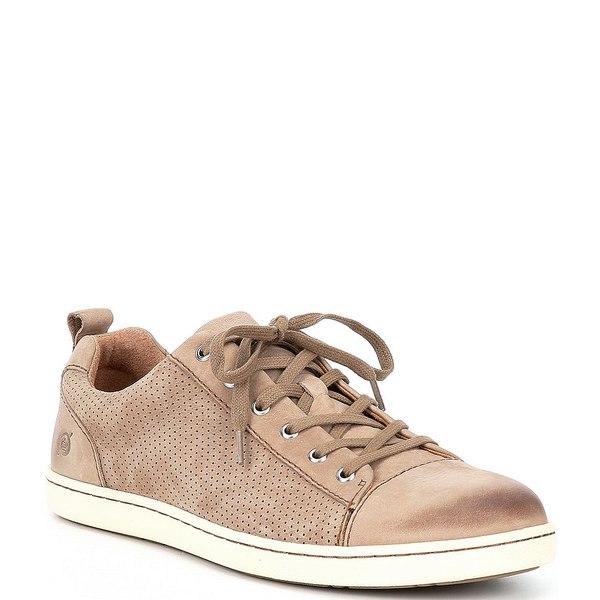 ボーン メンズ スニーカー シューズ Men's Allegheny Perforated Suede Leather Sneakers Taupe