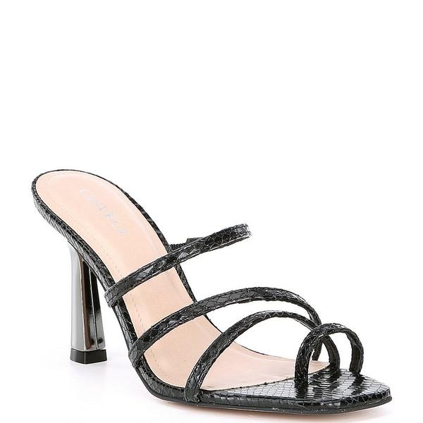 カーベラ・カート・ジェイガー レディース サンダル シューズ Goddess Snake Embossed Leather Dress Sandals Black