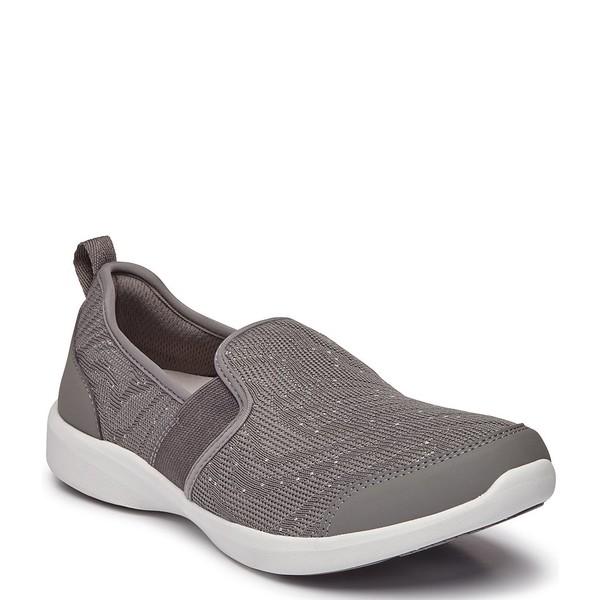 バイオニック レディース スニーカー シューズ Roza Sneaker Slip On Grey