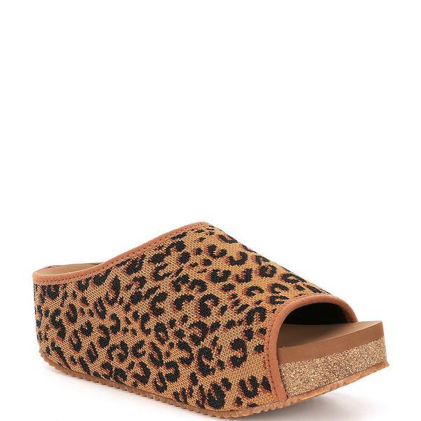 ボラティル レディース サンダル シューズ Elias Leopard Print Stretch Knit Footbed Sandals Tan/Leopard