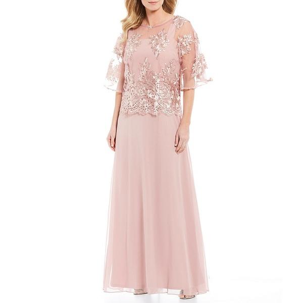 ロボス レディース ワンピース トップス Floral Embroidered Popover Gown Rose